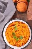 Mashed sweet potato Stock Photography