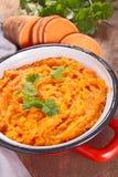 Mashed sweet potato Stock Photo