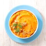 Mashed sweet potato Royalty Free Stock Images