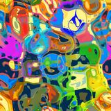 A Mashed Up Messy Abstract Design. An artistic and funky abstract background with mashed up shapes and colors Stock Images