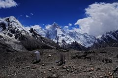Masherbrum from Gore II Royalty Free Stock Images