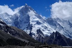 Masherbrum from Gore II royalty free stock image