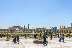 Mashhad Imam Reza Shrine stock photo