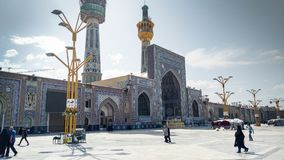 Haram complex and the Imam Reza Shrine. Mashhad, Iran, may 13, 2018: Haram complex and the Imam Reza Shrine, the largest mosque in the world by dimension in the Royalty Free Stock Image
