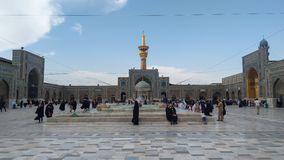 Haram complex and the Imam Reza Shrine. Mashhad, Iran, may 13, 2018: Haram complex and the Imam Reza Shrine, the largest mosque in the world by dimension in the Stock Image