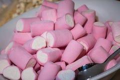 Mashmallows in Kom royalty-vrije stock afbeeldingen