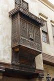 Mashrabiya, ist der arabische Ausdruck, der zu einer Art Erker-Fenster gegeben wird Lizenzfreie Stockfotografie