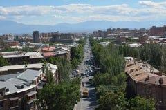 Mashtoc Avenue in Yerevan Stock Photos