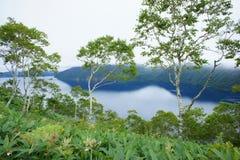 湖Mashu 免版税库存图片