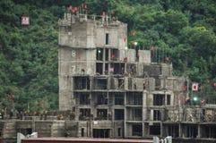 09/11/2018, Masik Ryong, Nord-Corée : Chantier de construction dangereux chez nouveau Ski Resort coréen du nord photo libre de droits