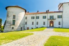 Masino城堡在山麓地区,意大利 免版税库存图片
