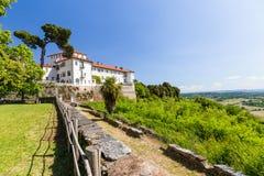 Masino城堡在山麓地区,意大利 免版税库存照片