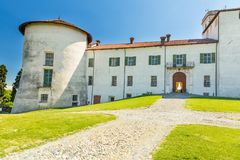 Masino-Schloss in Piemont-Region, Italien Lizenzfreies Stockbild