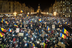 Masive protest in Timisoara , Romania Stock Image