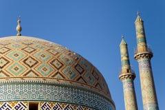 Masjed-i Moskee Jame in Yazd, Iran Royalty-vrije Stock Afbeeldingen