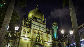 Masjid苏丹在新加坡 免版税库存照片