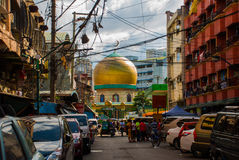 Masjid al-Dahab on the street Manila, Philippines. Golden Mosque And Cultural Center. Royalty Free Stock Photos