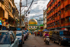 Masjid al-Dahab on the street Manila, Philippines. Golden Mosque And Cultural Center. Stock Photos