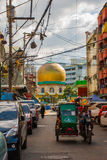 Masjid al-Dahab on the street Manila, Philippines. Golden Mosque And Cultural Center. stock photography