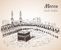 Masjid al-Haram sketch. Mecca. Royalty Free Stock Photography