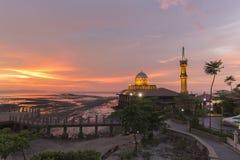 Masjid Al Hussain i den Kuala Perlis staden, Malaysia Arkivfoton