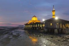 Masjid Al Hussain i den Kuala Perlis staden, Malaysia Arkivbilder