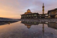 Masjid Al Hussain in Kuala Perlis-Stadt, Malaysia Lizenzfreie Stockfotos