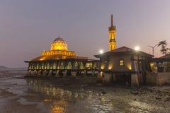 Masjid Al Hussain nella città di Kuala Perlis, Malesia Immagini Stock Libere da Diritti