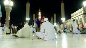 Masjid Al Nabawi或Nabawi先知的清真寺清真寺在光麦地那市,沙特阿拉伯 股票视频