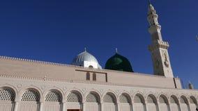 Masjid Al Nabawi oder Nabawi-Moscheen-Moschee des Prophets in Medina-Stadt von Lichtern, Saudi-Arabien stock footage