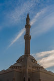 Masjid Al-Noor mosque. Scenic view of Masjid Al-Noor mosque with blue sky and cloudscape background, Sharjah, United Arab Emirates Royalty Free Stock Photos