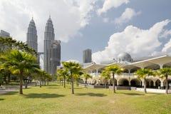 Masjid asy-Syakirinmoské i Kuala Lumpur Arkivfoton