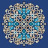 Masjid Blumenverzierung Stockfoto