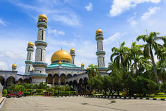 Masjid Brunei. Jameasr Hassanil Bolkiah Mosque, Bandar Seri Begawan, Brunei, Southeast Asia Stock Photos