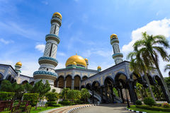 Masjid Brunei. Jameasr Hassanil Bolkiah Mosque, Bandar Seri Begawan, Brunei, Southeast Asia Royalty Free Stock Photo