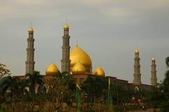Masjid Dian Al Mahri或金黄圆顶清真寺 库存图片