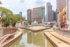 Masjid Jamek,吉隆坡,马来西亚历史的清真寺  库存图片