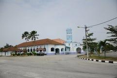 Masjid Jamek Dato Bentara Luar in Batu Pahat, Johor, Malesia Fotografia Stock Libera da Diritti