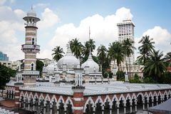 Masjid Jamek en Kuala Lumpur, Malaisie Photos stock