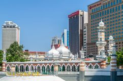 Masjid Jamek mosque which is located at the heart of Kuala Lumpur city. Stock Images