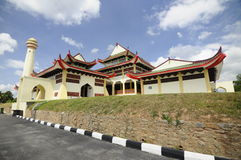 Masjid Jubel Perak sułtanu Ismail Petra a K A Masjid Pekin zdjęcia stock