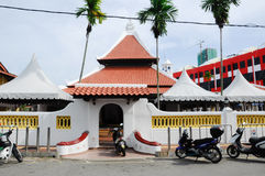 Masjid Kampung Hulu in Malacca, Malaysia. MALACCA, MALAYSIA – NOVEMBER 4, 2013: Kampung Hulu Mosque is an old mosque in Malacca City, and is the oldest mosque Royalty Free Stock Image