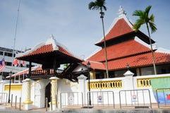 Masjid Kampung Hulu in Malacca, Malaysia. MALACCA, MALAYSIA – NOVEMBER 4, 2013: Kampung Hulu Mosque is an old mosque in Malacca City, and is the oldest mosque Stock Photos