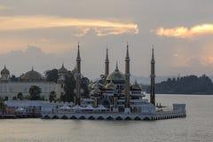 Masjid Kristal i Kuala Terrengganu, Malaysia Royaltyfri Foto