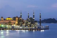 Masjid Kristal i Kuala Terrengganu, Malaysia Arkivbilder