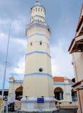 Masjid Lebuh亚齐, 19世纪清真寺在乔治城,槟榔岛,马来西亚 图库摄影
