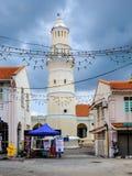 Masjid Lebuh亚齐, 19世纪清真寺,乔治城,槟榔岛,马来西亚 库存图片
