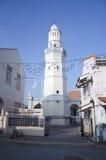 Masjid Melayu (Jamek) Lebuh Acheh Pulau Pinang eller Lebuh Aceh Mos arkivbilder