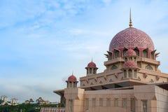 Masjid Putra lub; główny meczet Putrajaya, Malezja Zdjęcia Stock
