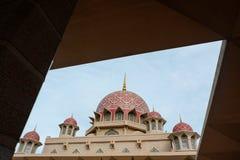 Masjid Putra lub; główny meczet Putrajaya, Malezja Zdjęcie Royalty Free